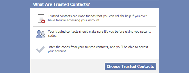 How to use facebook trusted contacts to gain access to your locked how to use facebook trusted contacts to gain access to your locked account ccuart Gallery