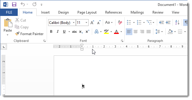 microsoft word 13 ruler