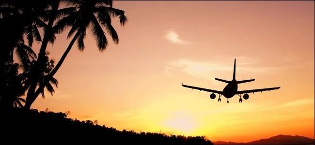 airplane-and-sunset