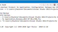 How to Automatically Create Build Backups in Visual Studio
