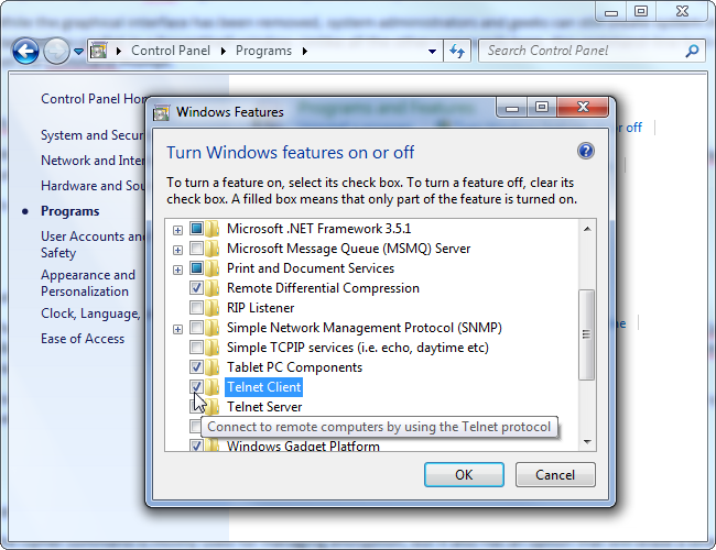install-windows-telnet-client