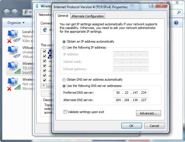 windows-set-custom-dns-server