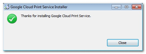 how to add google cloud printer to windows