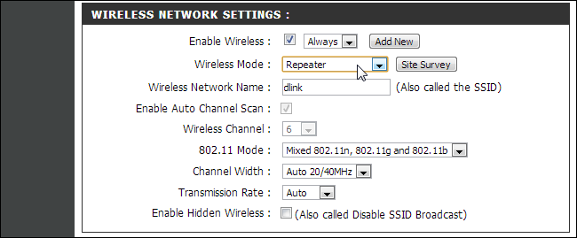 Router-function-as-repeater