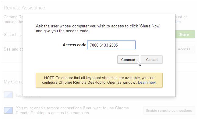 chrome-remote-desktop-code-connect