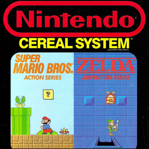Cover of a Nintendo Cereal Box