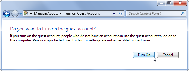 how to add guest account to windows