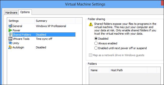vmwater-player-shared-folders