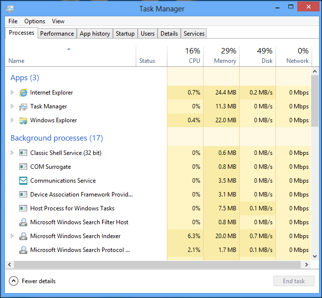 how to see programs running in background windows 8