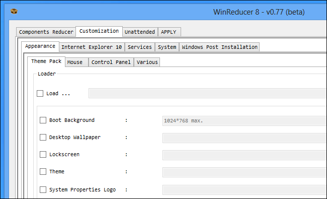 winreducer-customization