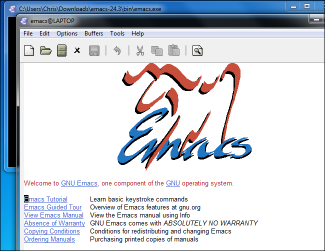gnu-emacs-on-windows