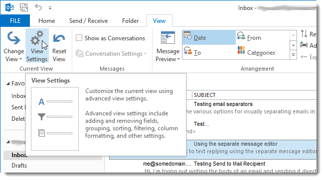 how to customize write message in outlook
