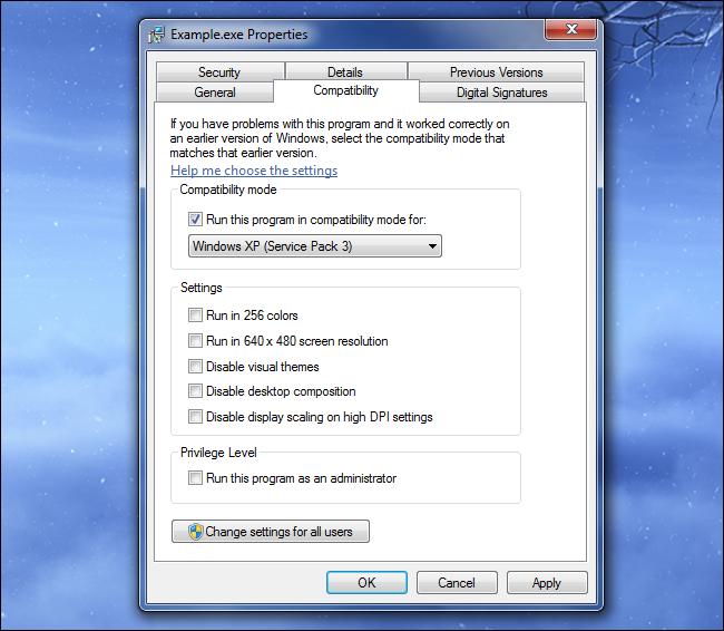 windows-compatability-mode-settings