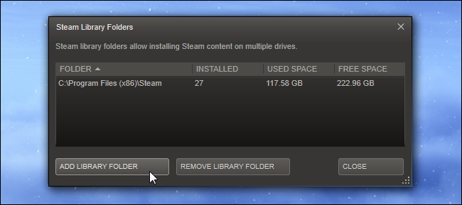 how to use saved steam game folder on reinstalled steam
