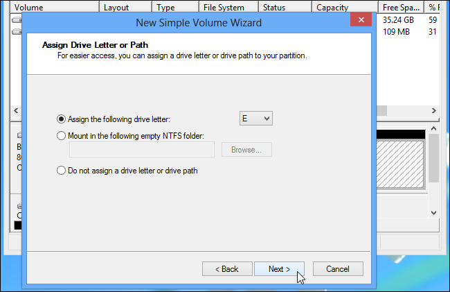 assign drive letter to external drive