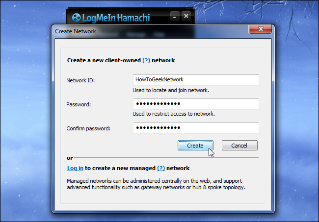 hamachi-create-network-id-and-password