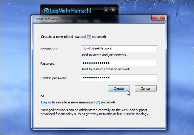 hamachi-create-network-id-and-password