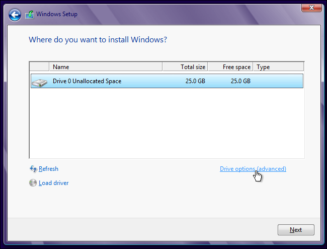 how to install windows from usb on new hard drive