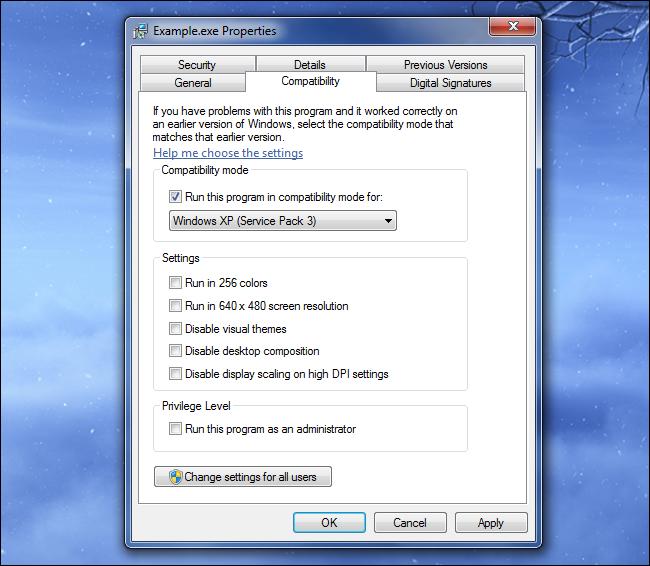 windows-compatability-mode-settings