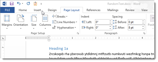 how to add page number without deleting header