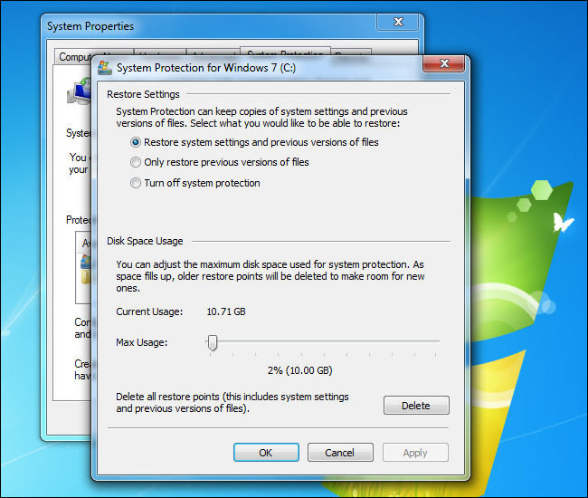reduce-system-restore-disk-space