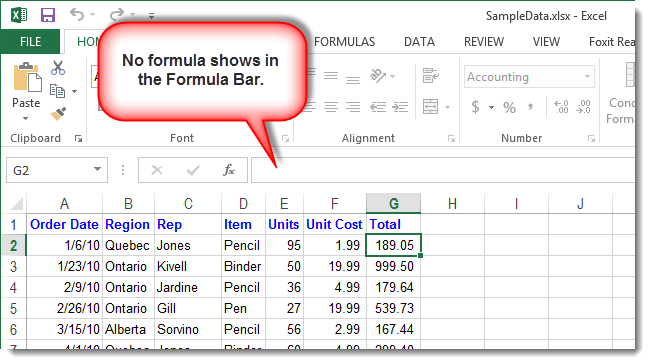 mac how to show formulas excel
