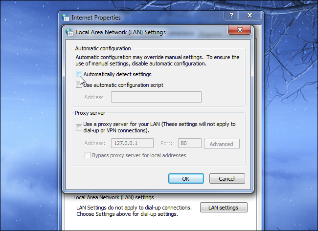 2 disable automatically detect proxy settings