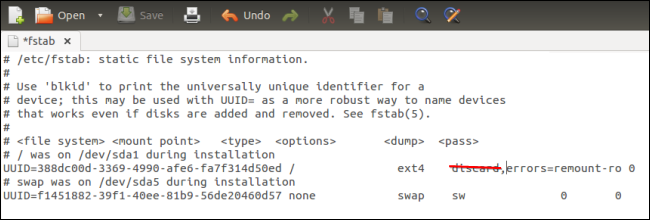 ubuntu-don't-enable-discard-trim