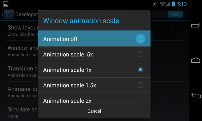 android sliding drawer animation speed 3