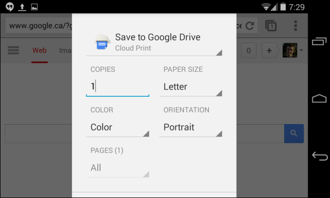 google-cloud-print-on-android