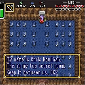 Secret room in The Legend of Zelda: A Link to the Past