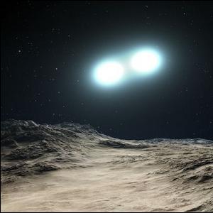 "Artist's rendering of a ""Blue Straggler"" star system"