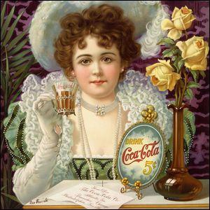 Victorian-era advertisement for 5 cent Coca-Cola