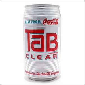 Can of Tab Clear from Coca-Cola