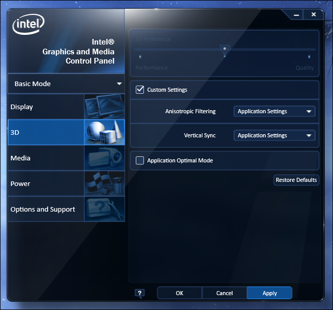 how to change settings on pc opinum cards