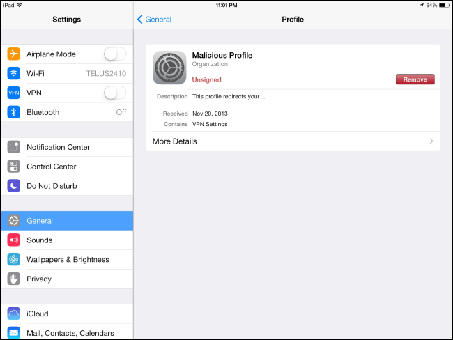 remove-configuration-profile-on-ipad