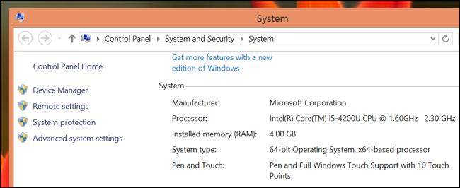 tell if windows 8.1 is 64 bit or 32 bit