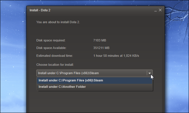 5 choose where to install steam game