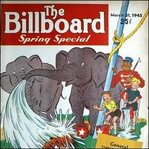 March 1945 cover of Billboard Magazine
