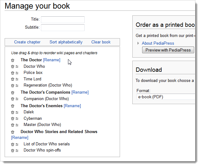 How to Create eBooks from Wikipedia Articles