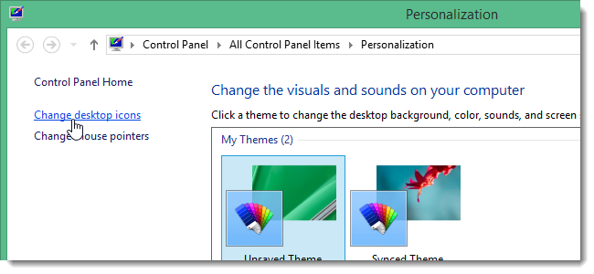 how to change desktop page