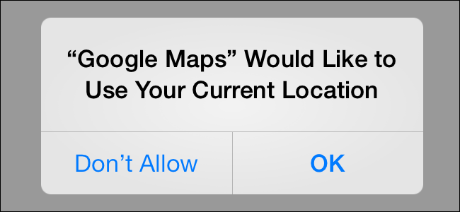 The Location Services Permission Prompt on iOS.