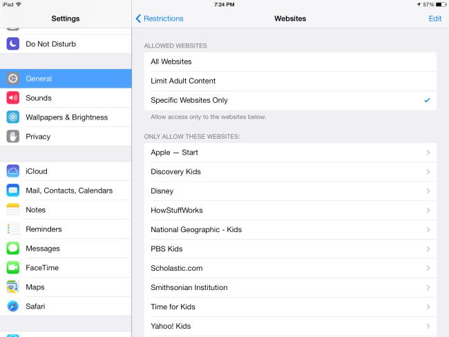 block adult websites explicit content iphone ipad using parental controls