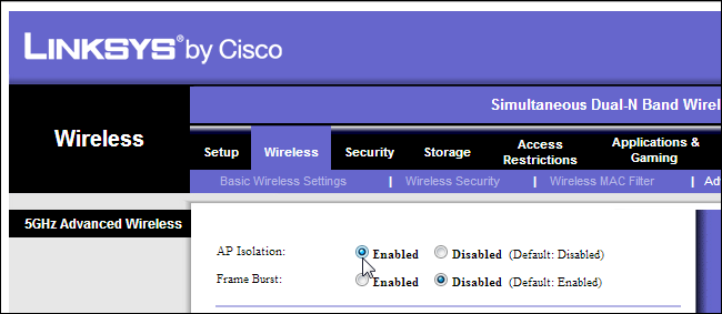 ap-isolation-linksys