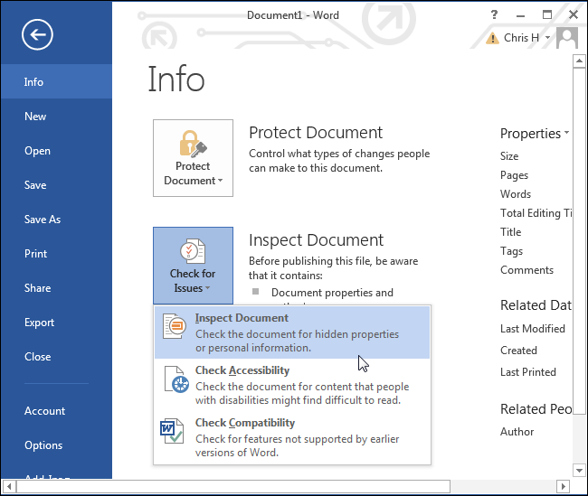 How to Remove The Hidden Personal Information Microsoft Office Adds to Your Documents ilicomm Technology Solutions