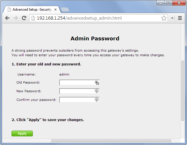how to change your router password