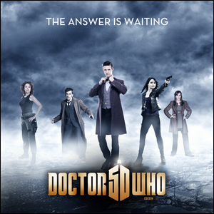 Promotional poster for the 50th anniversary broadcast of Doctor Who