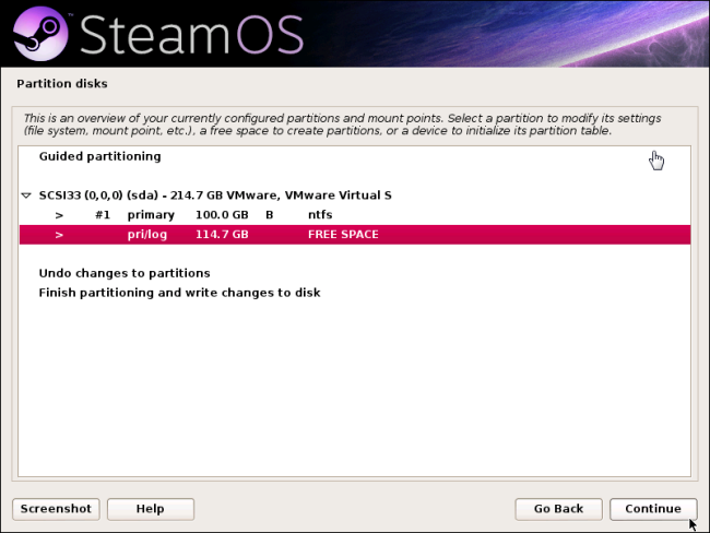 select-free-space-steamos