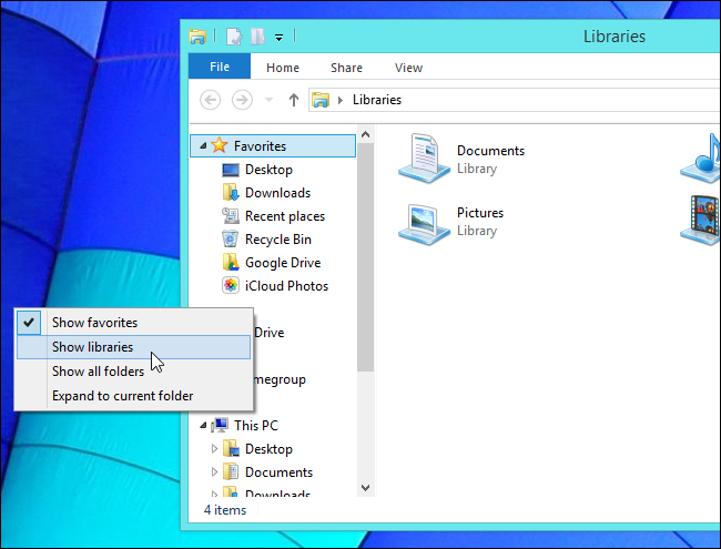show-libraries-on-windows-8.1