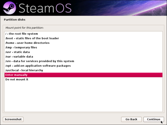 steamos-mount-point-enter-manually